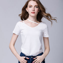 e947c93298e 2017 T Shirt Wholesale China Custom T-Shirt Women Short Sleeve Blank  Distressed T Shirts