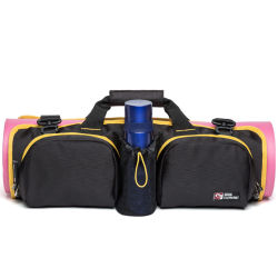 Detachable Foldable Sport Gym Yoga Mat Bags with Water Bottle