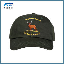 100% Cotton Wholesale Dad 6 Panel Baseball Cap and Hat