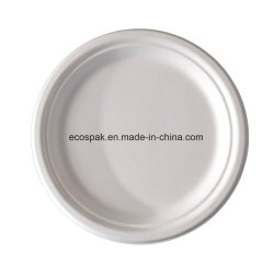 "Eco-Friendly Biodegradable Compostable Disposable Paper Pulp Tableware 9"" Plates"