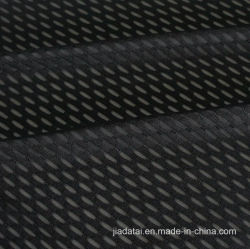 Black Jacquard Mesh 100% Polyester Elastic Sports Shirt Fabric