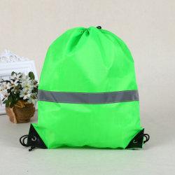 Wholesale Polyester Drawstring Bag, Reflective Sport Bag, Promotional Bag, Gift Bag