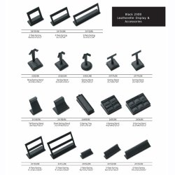 Wholesale Customize Black PU Leather Accessories Jewelry Display