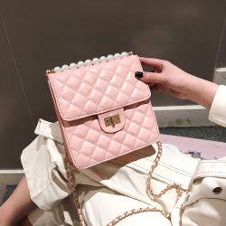Luxury Designers Pearl Decoration Leather Womens Crossbody Bag