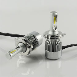 C6 3800lm 30W IP68 LED Headlight for Cars, COB/ Flip Available