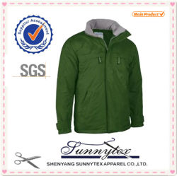 2018 Hot Sale Casual Windproof Polyester Fabric Men Winter Jacket