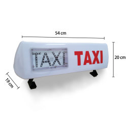 DC 12V Outdoor Waterproof Car Top LED Taxi Customized Waterproof Outdoor Use LED Taxi with Hook Fixed on The Taxi Roof Save 20% Factory Direct Selling LED Rg Ta