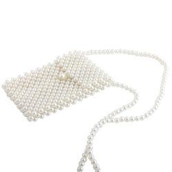 Retro Mini Long Shoulder Beaded Pearl Crossbody Messenger Bag