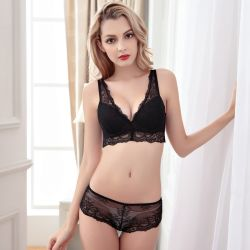 0442bf1603c34 Wholesale Woman Lingerie Sexy Longline Bra and Lace Panty (FPY332)