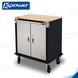 Movable Metal Tool Trolley with Handles and Wheels Tool Storge Cart