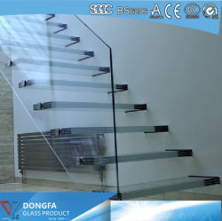 Triple Layer Super Clear Tempered Sentryglas Laminated Glass Stair Tread