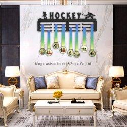 Factory Customized Hockey Sport Metal Medal Display Hook Holder Hanger