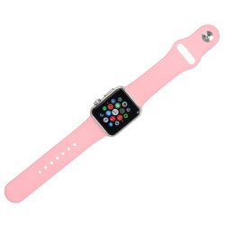 for Apple Watch Silicone Strap, Soft Silicone Replacement Iwatch Band Sport Style Wrist Strap for