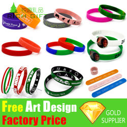 Custom Logo Fashion Sport Silicon Rubber Wrist Band Colorful Slap PVC Embossed Debossed RFID Smart Watch Charm USB Bangle Silicone Bracelet for Promotion Gift