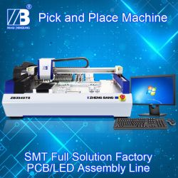 Desktop SMT Pick and Place Machine with Vision System Feeders Works to BGA Zb3545ts