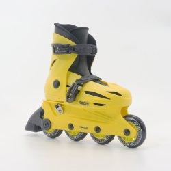 Yellow Adjustable Kids Inline Skates En13843: 2009