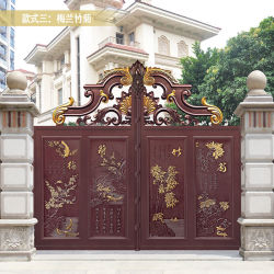 Custom Double Entry Door Wrought Iron Gate Main Designs Exterior