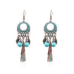 Fashion Yiwu Earring Long Hanging Tel Bead Earrings In Alloy Jewelry
