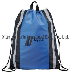 Wholesale Promotional Gift Bag Custom Printed Waterproof Sling Bag Sports Gym Sack Bag Travel Shoe Bag 100% Polyester Nylon Drawstring Cinch Backpack Bags