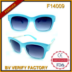 FM14009 Retro Metal Pilot Sunglasses with Brown Lens