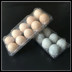 Foldable Biodegradable Transparent Clamshell Plastic Egg Tray