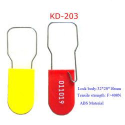 Security Plastic Padlock Seal for Crash Carts Bank Service Money Bags Kd-203