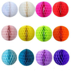 Party Supplies Customized Tissue Paper Honeycomb Ball