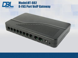 8 Ports VoIP FXS Gateway/VoIP Phone/VoIP Adapter/VoIP Atas (HT-882T)