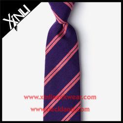 100% Handmade Silk Jacquard Purple Designer Tie for Men