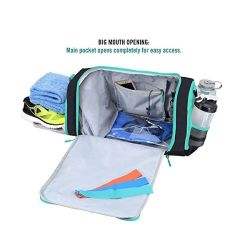 BSCI Factory Custom Gym Bag with Shoe Compartment Sport Travel Bag Duffle Bag with 2 Wet Pockets Including Water Resistant Pouch
