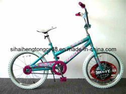 Green Girl Kids Biycle with 9type Plastic Chain Cover (SH-KB068)