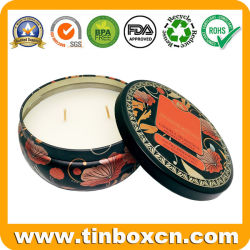 Empty Sealed Metal Can Aromatic Candle Tin Box for Travel