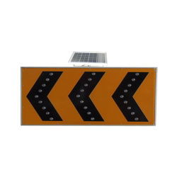 Road Construction Solar Traffic Signal Flashing Arrow Warning Light