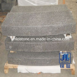 Flamed Surface G684 Basalt Stone Curved Kerb for Road