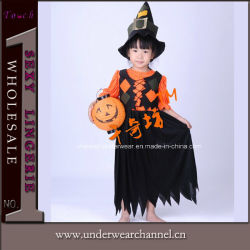 wholesale children party halloween pumpkin dress costume 0033