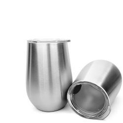 Insulated Stainless Steel Wine Glass Beer Mug Sippy Cup Promotion Gift for Man and Women
