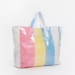 Waterproof Reusable PP Fabic Plastic PE Woven Tote Shopping Bag