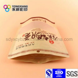 Size Customized Kraft Paper Stand up Pouch with Ziplock for Sea Food