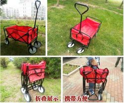 Collapsible Folding Beach Wagon Utility Garden Shopping Trolley Cart