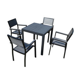 Wholesales Outdoor Metal Furniture Aluminum Embossing Dining Set (DCT-15567)