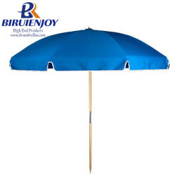 Factory Whole Sun Wooden Beach Umbrella With Uv Protection 220cm