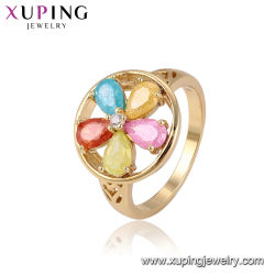 47de98374 Fashion Luxury 14K Gold-Plated Imitation Costume Style Indian Gold Plated  Gemstone Ring Jewelry for