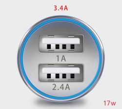 Wholesale Car Accessory of Mobile Phone USB Car Charger Power Bank Power Supply Adapter