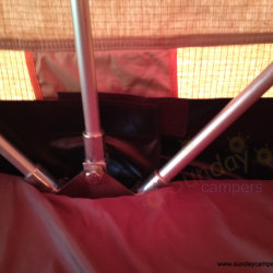 Double Sleeping Bag in Car Roof Tent