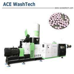 Plastic LDPE/PE/BOPP Film Granulating & PP Woven Bag Pelletizing & HDPE Regrind Recycling Pellet Machine