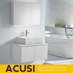 Modern Style White Lacquer Wooden Furniture Bathroom Cabinet (ACS1-L71)
