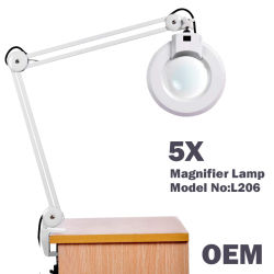 5X Portable Cosmetic Lamp Beauty Equipments / Clamp Magnifying Lamp for Dentist