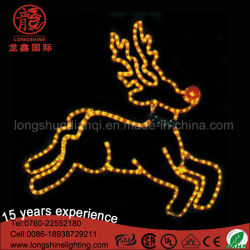 outdoor led 2d reindeer motif string light christmas decoration for street - Metal Reindeer Christmas Decorations