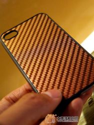 3D Bamboo Carbon Fiber Skin for Mobile Phone