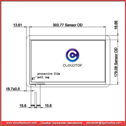 """13.3"""" Capacitive Touchscreen USB Interface for Industrial Device Touch Monitor"""